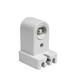 Pass & Seymour 465 Fluorescent Lampholder; 600 Volt, 660 Watt, Pedestal/Ceiling/Wall Mount, White
