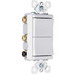 Pass & Seymour TM833-WCC tradeMaster® 3-Way Double Decorator Combination Switch; 120 Volt AC, 15 Amp, White