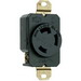 Pass & Seymour L630-R Turnlok® Specification Grade Locking Single Receptacle; Flush Mount, 250 Volt AC, 30 Amp, 2-Pole, 3-Wire, NEMA L6-30R, Black