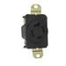 Pass & Seymour L1420-R Turnlok® Specification Grade Locking Single Receptacle; Flush Mount, 125/250 Volt AC, 20 Amp, 2-Pole, 3-Wire, NEMA L14-20R, Black/White