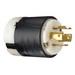 Pass & Seymour L1420-P Turnlok® Polarized Grounding Locking Plug; 20 Amp, 125/250 Volt AC, 2-Pole, 4-Wire, NEMA L14-20P, Black/White