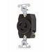 Pass & Seymour 4760 Turnlok® Specification Grade Locking Single Receptacle; Flush Mount, 277 Volt AC, 15 Amp, 2-Pole, 3-Wire, NEMA L7-15R, Black