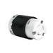 Pass & Seymour L520-C Turnlok® Polarized Locking Connector; 20 Amp, 125 Volt AC, 2-Pole, 3-Wire, NEMA L520R, Black/White