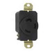 Pass & Seymour L530-R Turnlok® Specification Grade Locking Single Receptacle; Flush Mount, 125 Volt AC, 30 Amp, 2-Pole, 3-Wire, NEMA L5-30R, Black