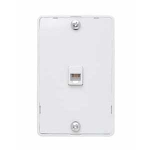 On-Q WMTE14-W Standard Size 1-Gang Communication Wallplate; Wall Mount, Thermoplastic, White