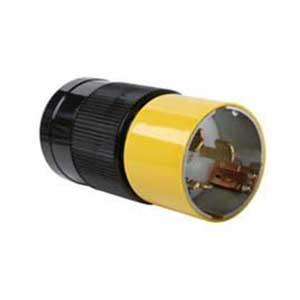 Pass & Seymour CS6365 Turnlok® California Standard Style Polarized Grounding Specification Grade Locking Plug; 50 Amp, 125/250 Volt AC, 2-Pole, 3-Wire