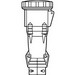 Pass & Seymour PS560C9-W Watertight Pin and Sleeve Connector; 60 Amp, 120/208 Volt, 4-Pole, 5-Wire, 3 Phase, Black