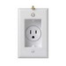 Pass & Seymour S3713-W Decorator Clock Hanger Single Recessed Receptacle with Smooth Wallplate; Wall Mount, 125 Volt, 15 Amp, 2-Pole, 3-Wire, NEMA 5-15R, White