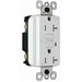 Pass & Seymour 2095-TRWRW Weather-Resistant Tamper-Resistant Decorator GFCI Receptacle; 125 Volt, 20 Amp, 2-Pole, 3-Wire, White