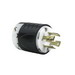 Pass & Seymour L1730-P Turnlok® Locking Plug; 30 Amp, 600 Volt AC, 3-Pole, 4-Wire, NEMA L17-30P, Black/White