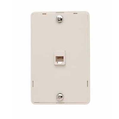 On-Q WMTE14-LA Standard Size 1-Gang Communication Wallplate; Wall Mount, Thermoplastic, Light Almond