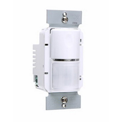 Pass & Seymour WSP250-W Passive Infrared Wall Switch Occupancy Sensor; 120/277 Volt AC, 1050 Sq ft, On/Off, White