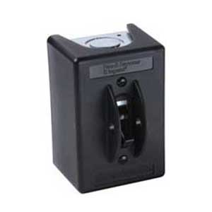 Pass & Seymour 7812-P 1 Phase AC Manual Controller Switch with NEMA 1 Enclosure ; 2-Pole, 600 Volt, 30 Amp, Black