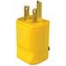 Pass & Seymour 5965-Y MaxGrip M3 Grounding Polarized Straight Blade Plug; 15 Amp, 125 Volt, 2-Pole, 3-Wire, NEMA 5-15P, Yellow