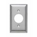 Pass & Seymour SL7 Standard Size 1-Gang Single Receptacle Plate; Wall Mount, 430 Stainless Steel