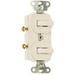 Pass & Seymour 696-LA 3-Way Combination Switch; 120/277 Volt AC, 15 Amp, 1-Pole, Non-Grounding, Light Almond