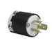 Pass & Seymour PSL615-P Turnlok® Specification Grade Locking Plug; 15 Amp, 250 Volt AC, 2-Pole, 3-Wire, NEMA L615, Black/White