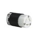 Pass & Seymour PSL615-C Turnlok® Locking Connector; 15 Amp, 250 Volt AC, 2-Pole, 3-Wire, NEMA L615, Black/White