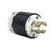 Pass & Seymour L1830-P Turnlok® Polarized Non-Grounding Locking Plug; 30 Amp, 120/280 Volt AC, 3-Pole, 4-Wire, NEMA L18-30P, Black/White