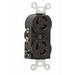 Pass & Seymour 4700 Turnlok® Heavy Duty Duplex Locking Receptacle; Box Mount, 125 Volt, 15 Amp, 2-Pole, 3-Wire, NEMA L5-15R, Black