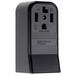 Pass & Seymour 3884 Specification Grade Straight Blade Power Receptacle; Surface Mount, 125/250 Volt AC, 30 Amp, 3-Pole, 4-Wire, NEMA 14-30R, Black