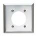 Pass & Seymour SS703 Standard Size 2-Gang Single Receptacle Plate; Wall Mount, 302 Stainless Steel