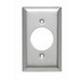 Pass & Seymour SS720 Standard Size 1-Gang Single Receptacle Plate; Wall Mount, 302 Stainless Steel