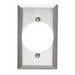 Pass & Seymour SS724 Standard Size 1-Gang Single Receptacle Plate; Wall Mount, 302 Stainless Steel