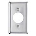 Pass & Seymour SS7 Standard Size 1-Gang Single Receptacle Plate; Wall Mount, 302 Stainless Steel