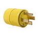 Pass & Seymour 1451 Gator Grip Plug; 50 Amp, 125/250 Volt, 3-Pole, 4-Wire, NEMA 14-50P, Yellow