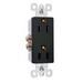 Pass & Seymour 885-BK Sierraplex® tradeMaster® Decorator Duplex Receptacle; Wall Mount, 125 Volt, 15 Amp, 2-Pole, 3-Wire, NEMA 5-15R, Black