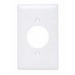 Pass & Seymour TP720-W tradeMaster® Standard Size 1-Gang Single Receptacle Plate; Wall Mount, Nylon, White