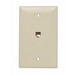 On-Q TPTE1-I Standard Size Mar-Resistant 1-Gang Communication Wallplate; Flush Mount, Thermoplastic, Ivory