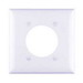 Pass & Seymour TP703-W tradeMaster® Standard Size 2-Gang Single Receptacle Plate; Wall Mount, Nylon, White