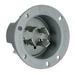 Pass & Seymour L1430-FI Turnlok® Flanged Inlet; 30 Amp, 125/250 Volt AC, 2-Pole, 4-Wire, NEMA L14-30, Gray
