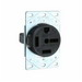 Pass & Seymour 5760 Specification Grade Straight Blade Power Receptacle; Flush Mount, 250 Volt, 60 Amp, 3-Pole, 4-Wire, NEMA 15-60, Black