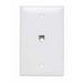 On-Q TPTE1-W Standard Size 1-Gang Communication Wallplate; Flush Mount, Thermoplastic, White