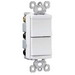 Pass & Seymour TM811-WCC tradeMaster® Two Decorator Combination; 120 Volt AC, 15 Amp, 1-Pole, White