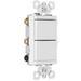 Pass & Seymour TM813-WCC tradeMaster® 3-Way Decorator Combination Switch; 120 Volt AC, 15 Amp, 1-Pole, White