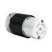 Pass & Seymour L2130-C Turnlok® Locking Connector; 30 Amp, 120/208 Volt AC, 3-Pole, 5-Wire, NEMA L2130, Black/White