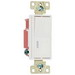 Pass & Seymour 2629-W Single Pilot Lighted Decorator Switch; 1-Pole, 120 Volt AC, 20 Amp, White