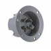 Pass & Seymour L1530-FI Turnlok® Flanged Inlet; 30 Amp, 250 Volt AC, 3-Pole, 4-Wire, NEMA L15-30, Gray