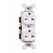 Pass & Seymour 5862-I Specification Grade Duplex Receptacle; Wall Mount, 250 Volt AC, 20 Amp, 2-Pole, 3-Wire, NEMA 6-20R, Ivory