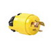 Pass & Seymour 7554-SS Turnlok® Locking Plug; 15/10 Amp, 125/250 Volt AC, 3-Pole, 3-Wire, Yellow