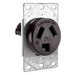 Pass & Seymour 3860 Specification Grade Straight Blade Power Receptacle; Flush Mount, 125/250 Volt AC, 30 Amp, 3-Pole, 3-Wire, NEMA 10-30R, Black