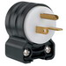 Pass & Seymour PS5466-SSAN Specification Grade Straight Blade Angle Plug; 20 Amp, 250 Volt, 2-Pole, 3-Wire, NEMA 6-20P, Black/White