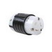 Pass & Seymour L720-C Turnlok® Locking Connector; 20 Amp, 480 Volt AC, 2-Pole, 3-Wire, NEMA L720R, Black/White