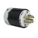 Pass & Seymour L2120-P Turnlok® Locking Plug; 20 Amp, 120/208 Volt AC, 3-Pole, 5-Wire, NEMA L21-20P, Black/White