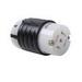 Pass & Seymour L2120-C Turnlok® Locking Connector; 20 Amp, 122/208 Volt AC, 3-Pole, 5-Wire, NEMA L2120R, Black/White