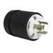 Pass & Seymour L1120-P Turnlok® Locking Plug; 20 Amp, 250 Volt AC, 3-Pole, 3-Wire, NEMA L11-20P, Black/White